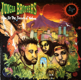Jungle Brothers ‎- Done By The Forces Of Nature (LP) (G++/G+)